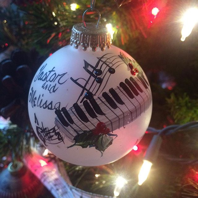 My favorite...a gift from some dear friends. #Christmas #piano #doc&wanda