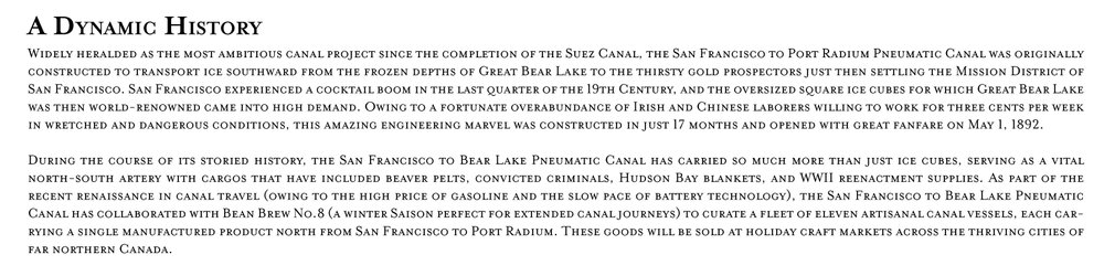 The canal's history