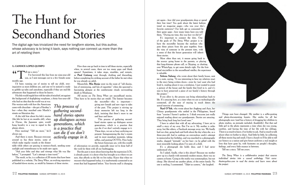 The Hunt for Secondhand Stories - Philippine Panorama 091315-spread.png