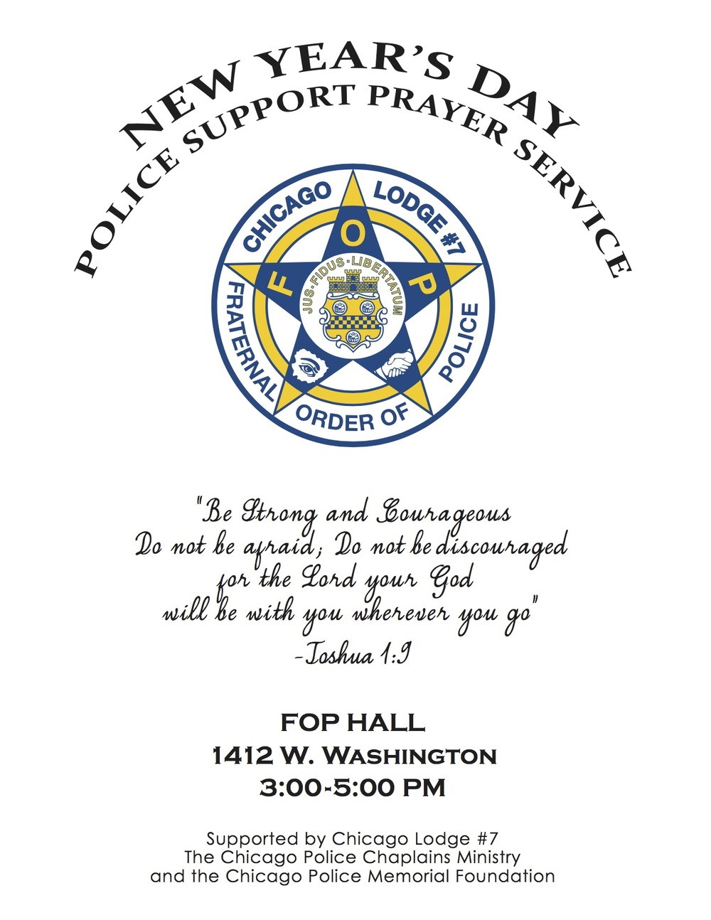 New Year\'s Day Police Support Prayer Service. — Fraternal Order of ...