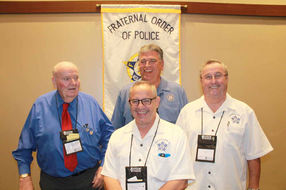 Chicago Lodge 7 Past President's, John Dineen, Dean Angelo Sr., Mark Donahue, and Bill Nolan