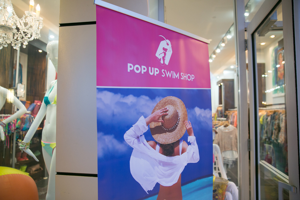 Pop Up Swim Shop 2015 at SLS Hotel in Hyde Beach.