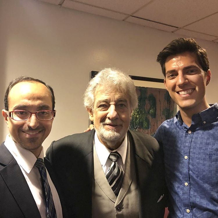 with Plácido Domingo, 2018