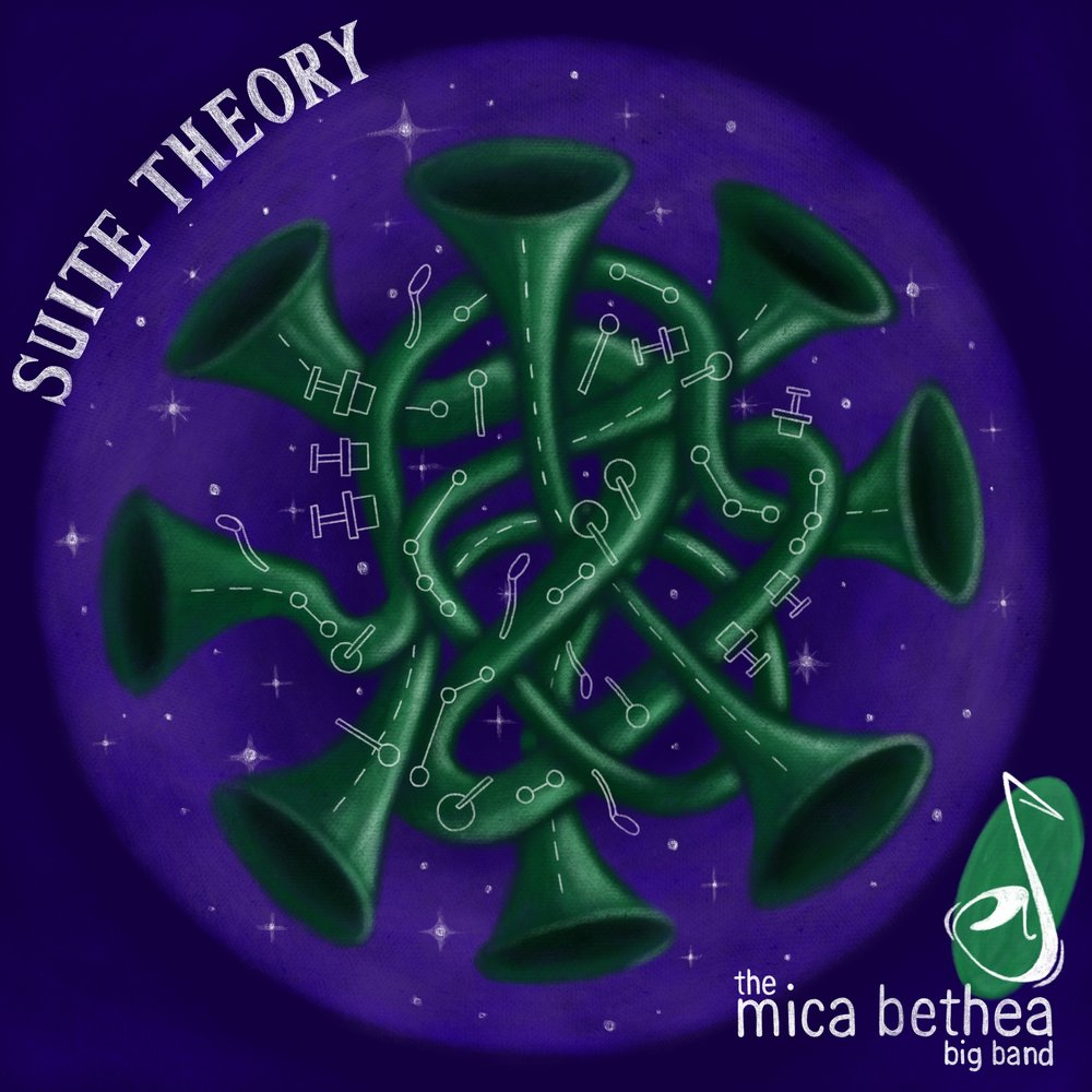 Suite Theory   This CD is a recording of a big band with an amazing collaboration of soloists that are playing a wide variety of compositions by Mica Bethea spanning multiple styles that tells the story of his life.   Genres: Big Band Jazz, Funk, Fusion, Swing, Latin   Release Date: 2018    Click image to sample and purchase!