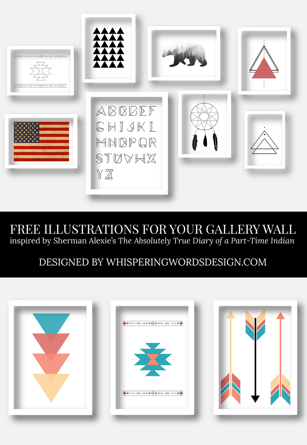 It's just a graphic of Delicate Gallery Wall Printables