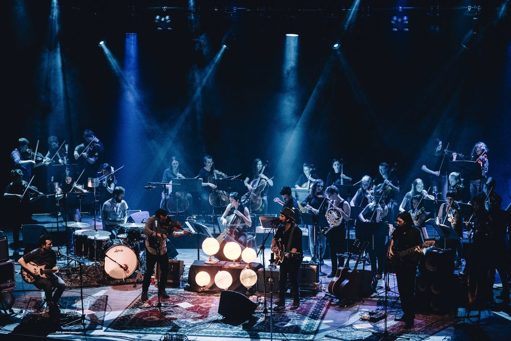 MYRO performed with Gregory Alan Isakov and the Ghost Orchestra at the State Theatre on June 20th in Portland. MYRO was 1 of 2 youth orchestras nationally that had the opportunity to accompany  Gregory Alan Isakov .
