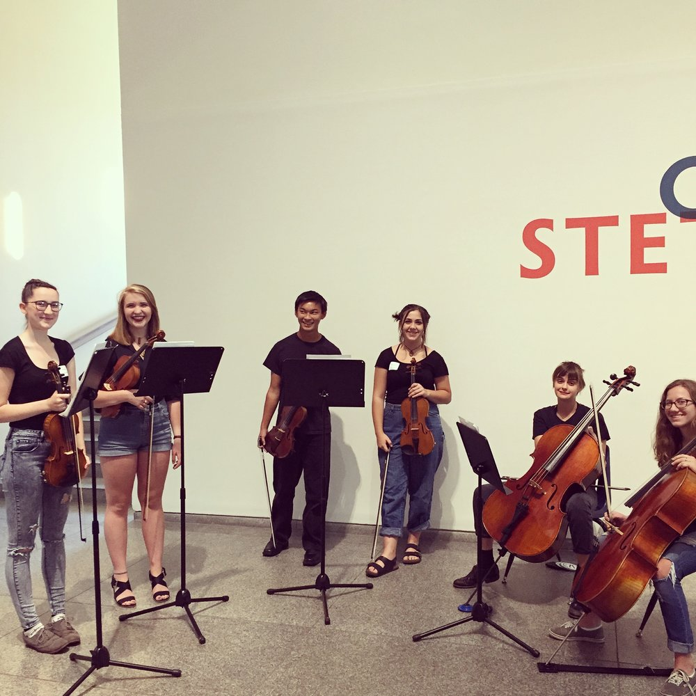 Our MYRO Rocktet performed at the  Portland Museum of Art,  launching their Fall season of 'Family Days'.