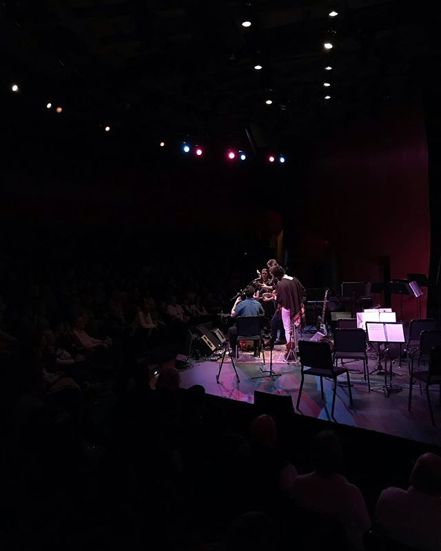 Our concertmaster Francesca performed banjo with @darlingside at @theeggpac and we discovered that our students just become even cooler than us every single day.