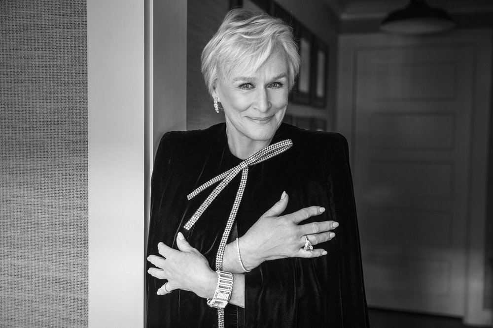 Glenn Close before the Golden Globes, 2019