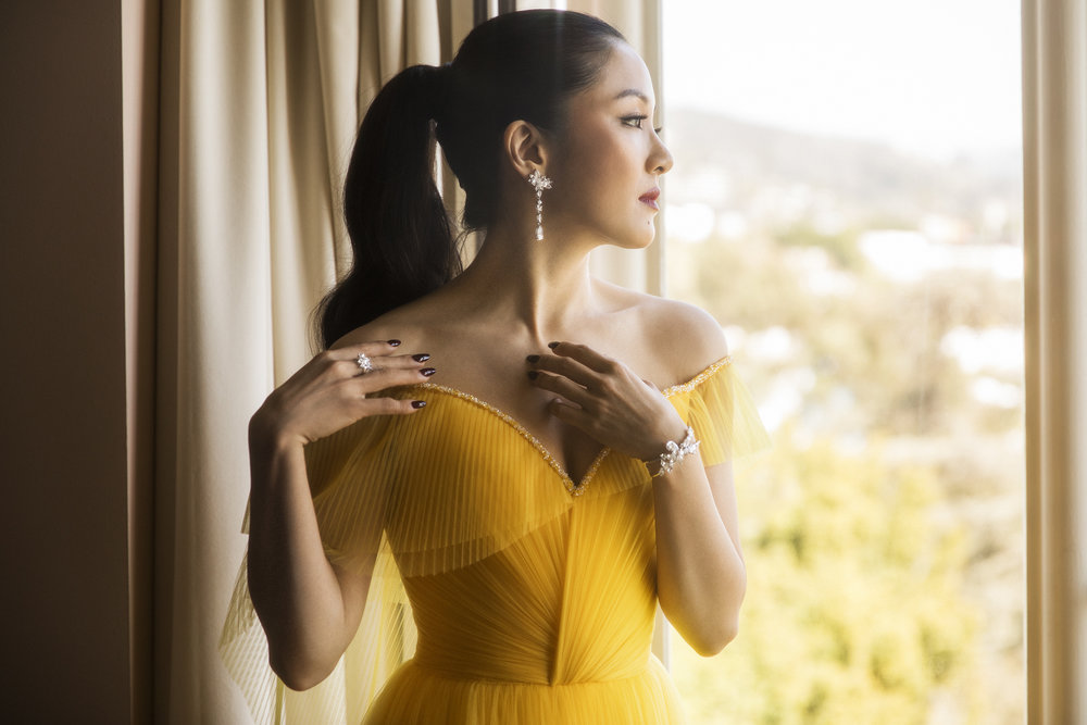 Constance Wu before the Academy Awards, 2019