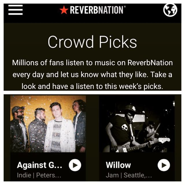 "Proud to be featured as a ""crowd pick"" on reverbnation.com! Thanks for the love... Come hang and enjoy tomorrow's show in Richmond, VA  7/23 at THE BROADBERRY at 8pm.  #reverbnation #ag #rvamusic #rva #newmusic #raybangirl #pleasedontgo"