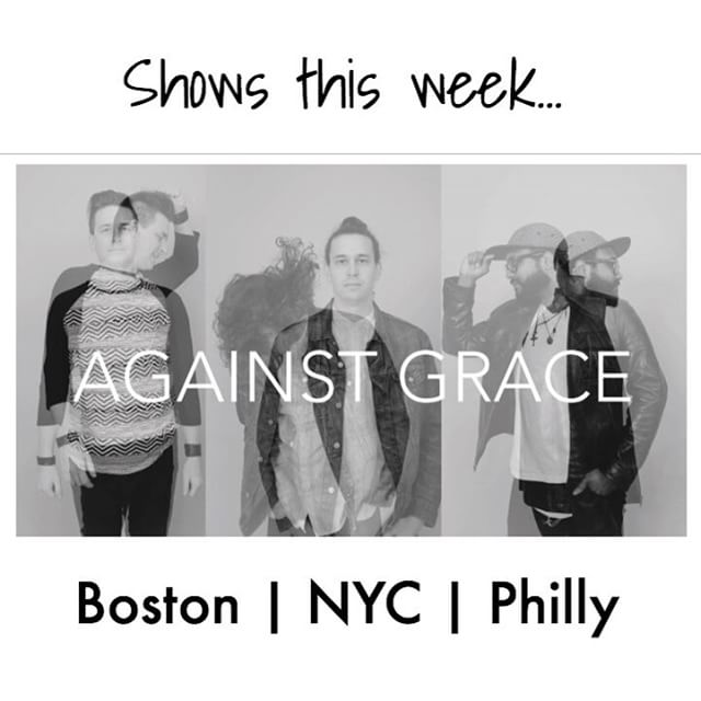 On the road this week w/ @brighterthemoon !  Any friends in the northeast want 3 house guests for a night?  All show details at www.againstgrace.com/tour #AG #tour #Boston #NYC #Brooklyn #philly #houseguest #airbnb