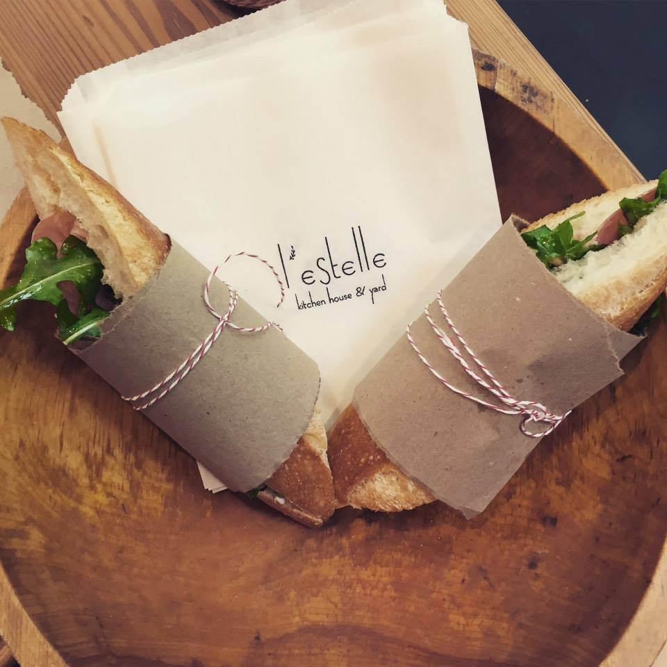 Prosciutto and avocado baguette sandwiches to-go!