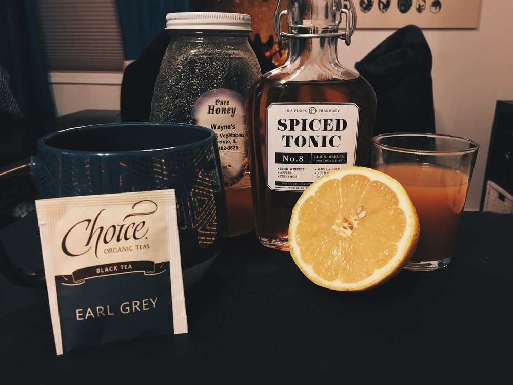 Spiced Tonic Hot Toddy -