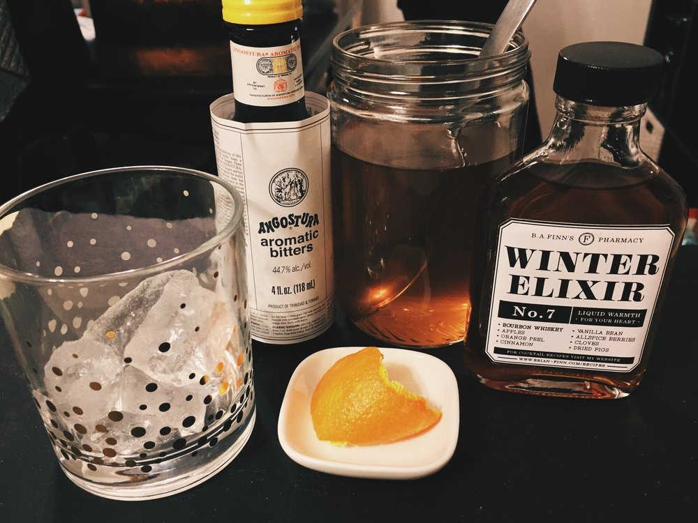 Winter Elixir Old Fashioned -