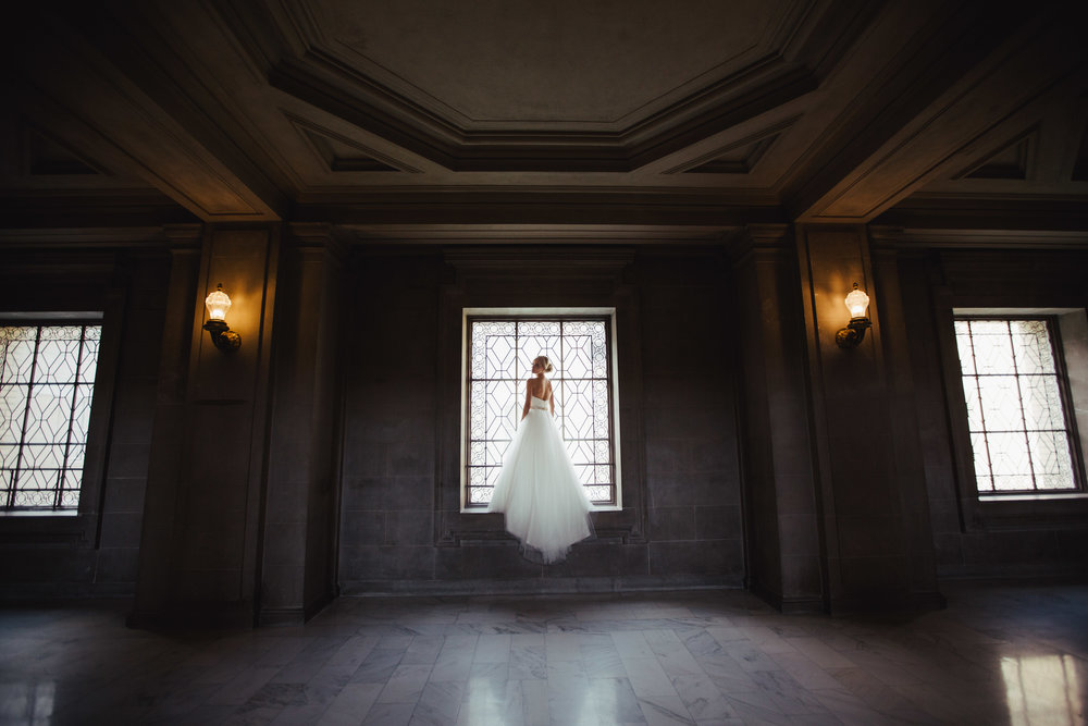 Beautiful bride at San Francisco City Hall