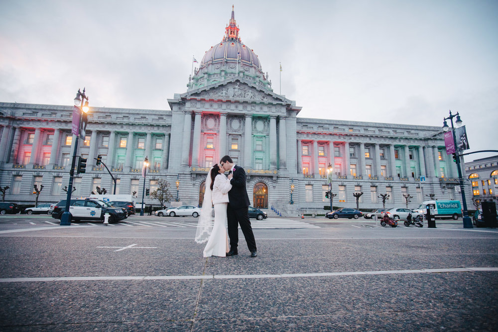 City Hall Wedding outside