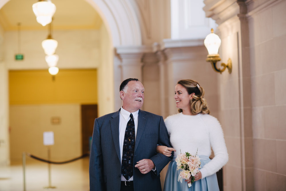 Copy of Father and Daughter SF City Hall wedding