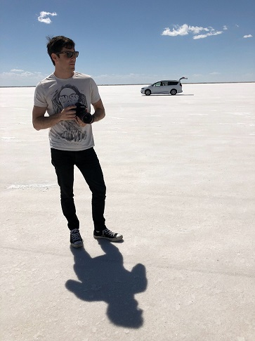 Somewhere at Bonneville Salt Flats