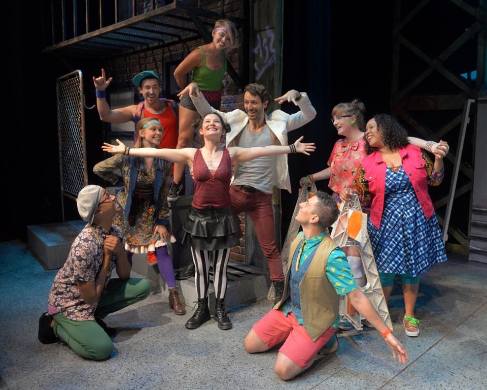 Godspell (center) - Westchester Broadway Theatre © John Vecchiolla
