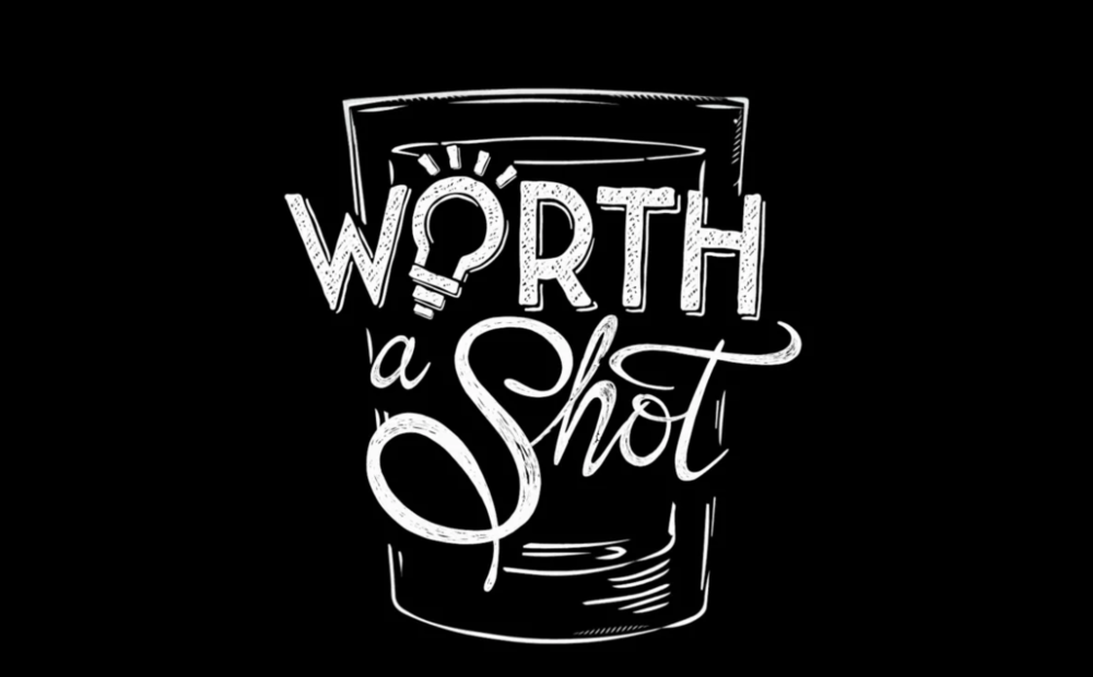 Worth a Shot - Fullscreen.Game Show. Digital Series.Skyy John (Tipsy Bartender) and Violet Benson (@daddyissues_ creator)take over bars and challenges locals to come up with their best ideas, using only a cocktail napkin, for the chance to win a cash prize.