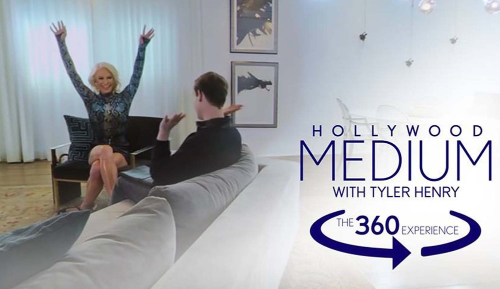 Hollywood Medium with Tyler Henry x Gigi Gorgeous 360 - E!Marketing. 360-Video. Digital Short.Medium Tyler Henry reads aspirational, mega-influencer Gigi Gorgeous, in a first ever 360-experience for the series.