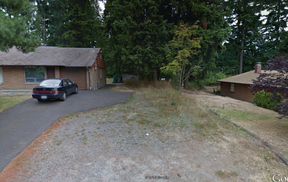 Location of proposed access easement off 238th