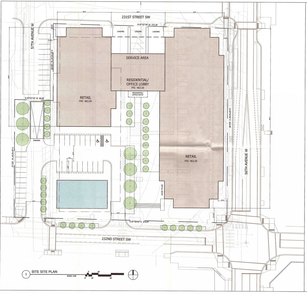 The proposed Mountlake Village site plan