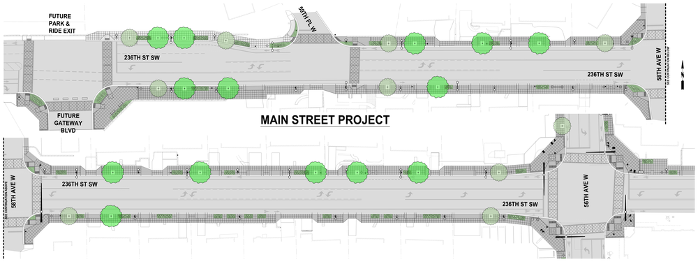 Plan view of the Main Street Phase 1 project