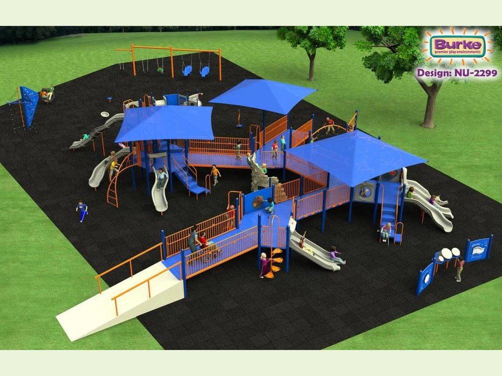 Ballinger Park playground concept. Final design to be determined during a community-wide process.