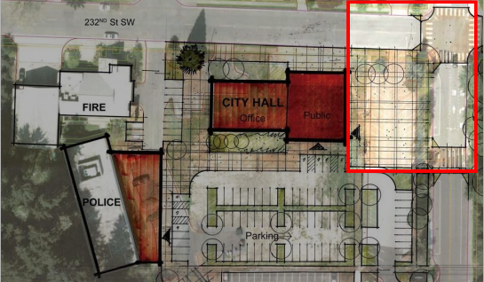 Location of plaza in Civic Campus (ARC Architects)