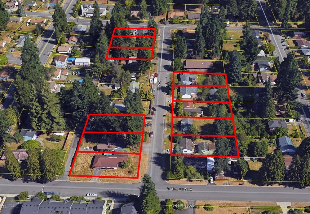 Properties owned by LQH on 55th Ave W between 238th and 240th St SW