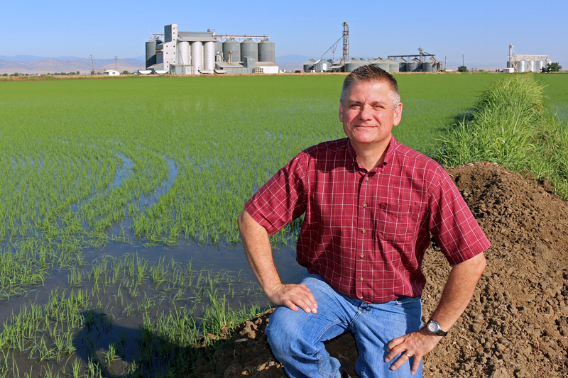 Jim Morris, Communications Manager at the California Rice Commission – Photo credit: RJ Morris