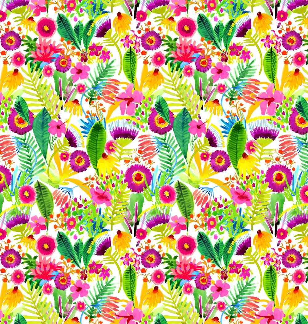 Watercolor Tropicalia