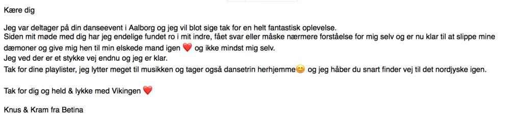 Anbefaling fra deltager i Aalborg.
