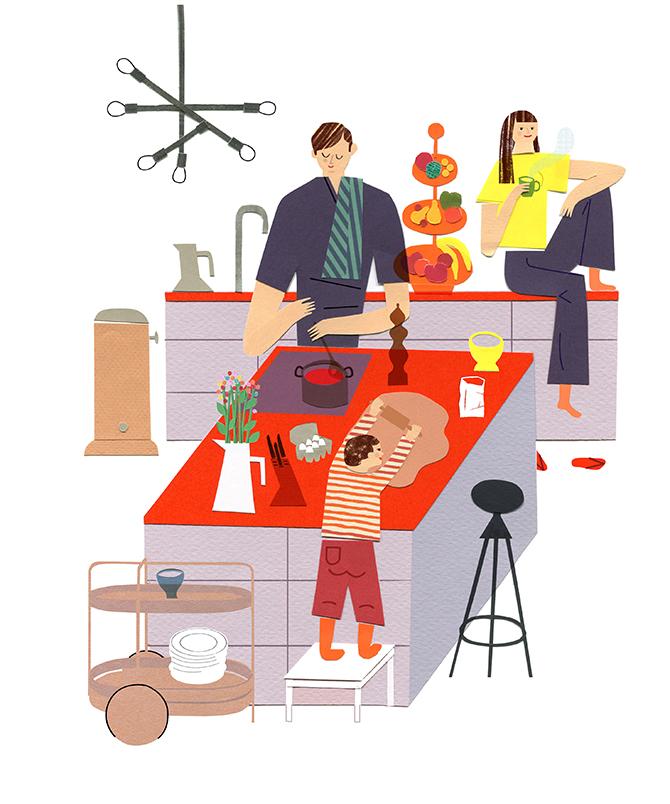 Schöner Wohnen Kitchen scene 2018