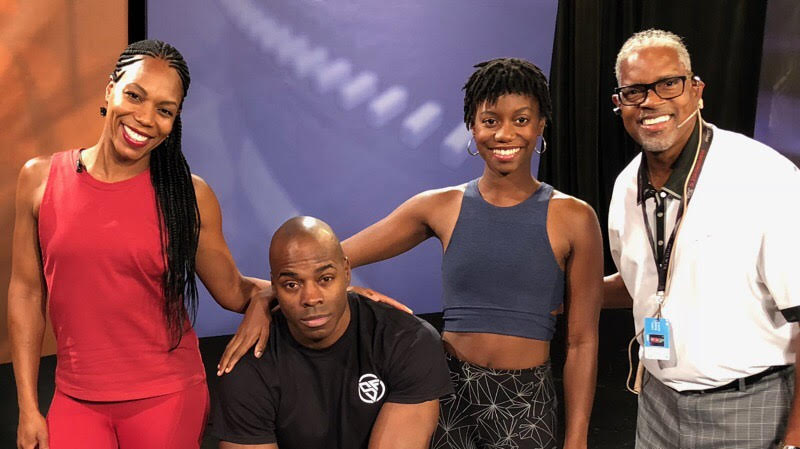 Georgette Dunn, Melvin Sanders, Shamira West, & Larry, Stage Manger for Fox 4 News