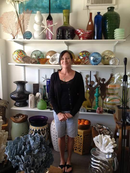 Shannon Colburn in her luxury designer showroom.