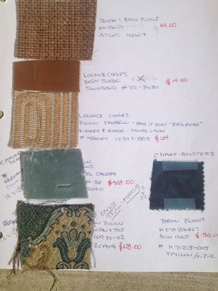 Sample swatch for Pasedena color palette.