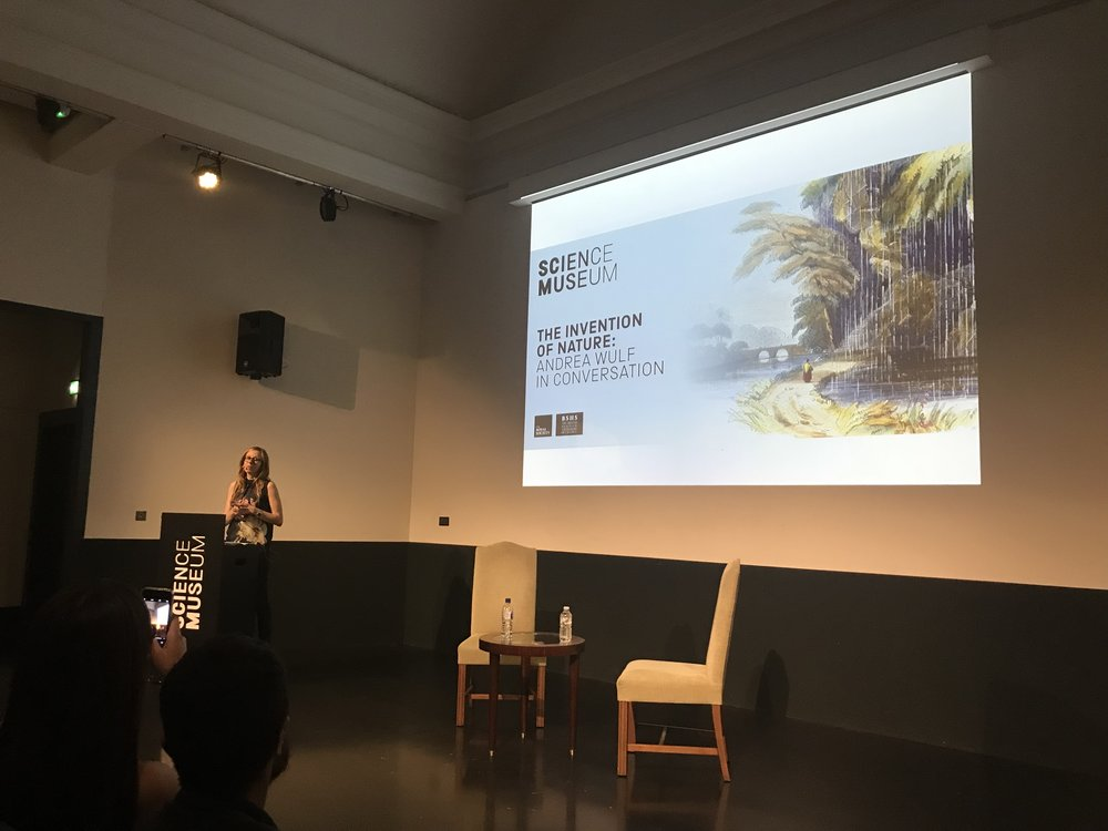 Andrea Wulf in conversation at the Science Museum in London | Credit: Talita Bateman
