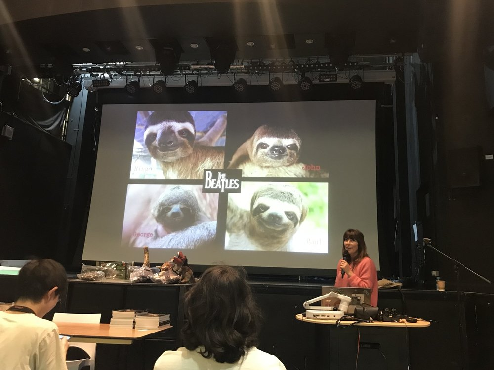 Lucy Cooke making us all laugh by sharing her love for the endearing Sloth | Credit: Talita Bateman