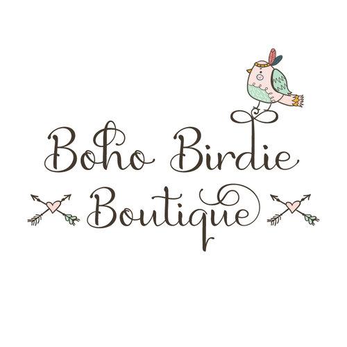 Boho Bird Premade Logo Design