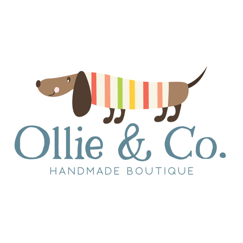 Unique Striped Dachshund Premade Logo Design - Customized with Your  YW81