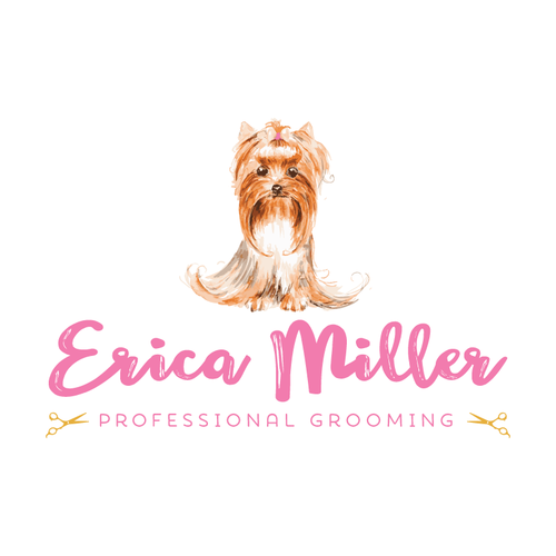 Completely new Dog Grooming Yorkie Premade Logo Design - Customized with Your  RK65