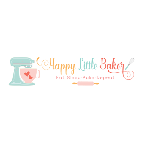 baking mixer premade logo design customized with your business