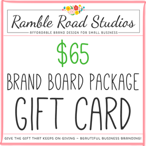 Brand board package gift card give the gift of beautiful business brand board package gift card give the gift of beautiful business branding colourmoves