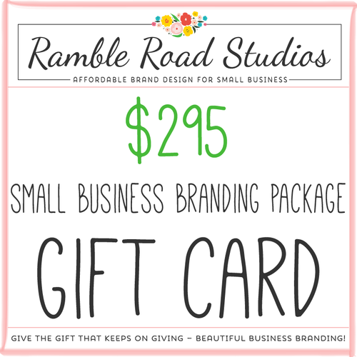 Small business branding package gift card give the gift of small business branding package gift card give the gift of beautiful business branding colourmoves