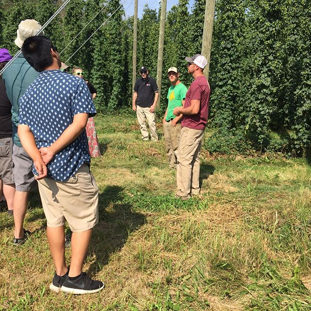 Big thanks to #citybuiltbrewing for coming out and touring the farm. Great ingredients and great Brewers make for great beer! #citybuiltbrewing #citybuilder #puremittenhops #greatbeerstartshere