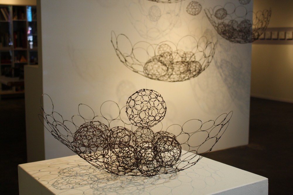 "Nestle Installation, 2011, wire, 96"" x 96"" x 36"""