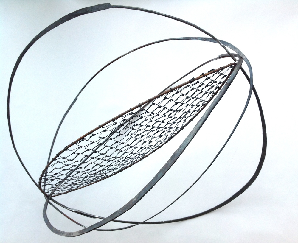 "Kernel 2, 2014, welded steel and wire, 48"" x 36"" x 36"""